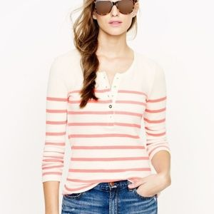 J. Crew Thermal Striped Long Sleeve Henley S